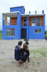 The facade of our second home in Puerto Cayo, Ecuador.