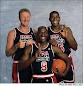 Larry Bird, Magic Johnson, Michael Jordon