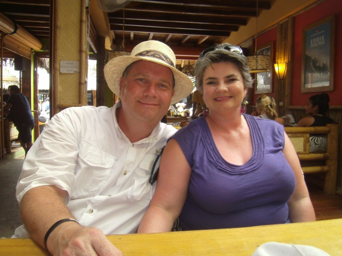 Dana and me, back in business, but a lot more relaxed, less stress and learning to enjoy life and savor the moment.