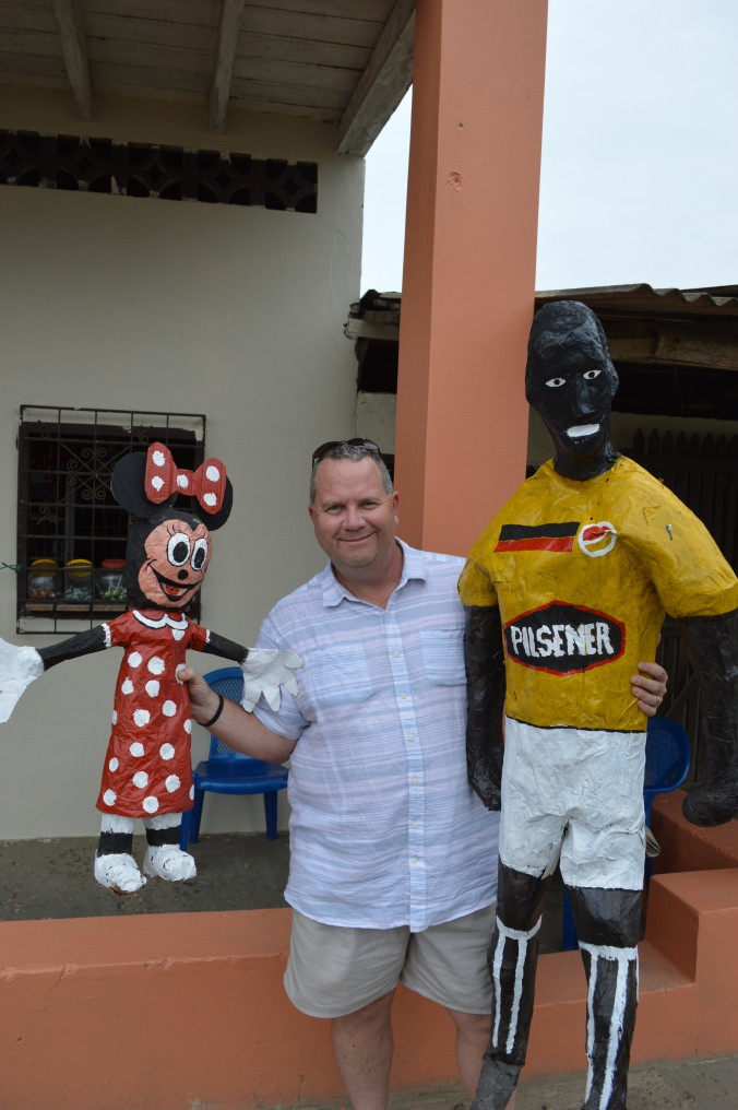 Minnie Mouse, and an Ecuadorian soccer player sponsored by Pilsner, pretty much the national beer of choice.