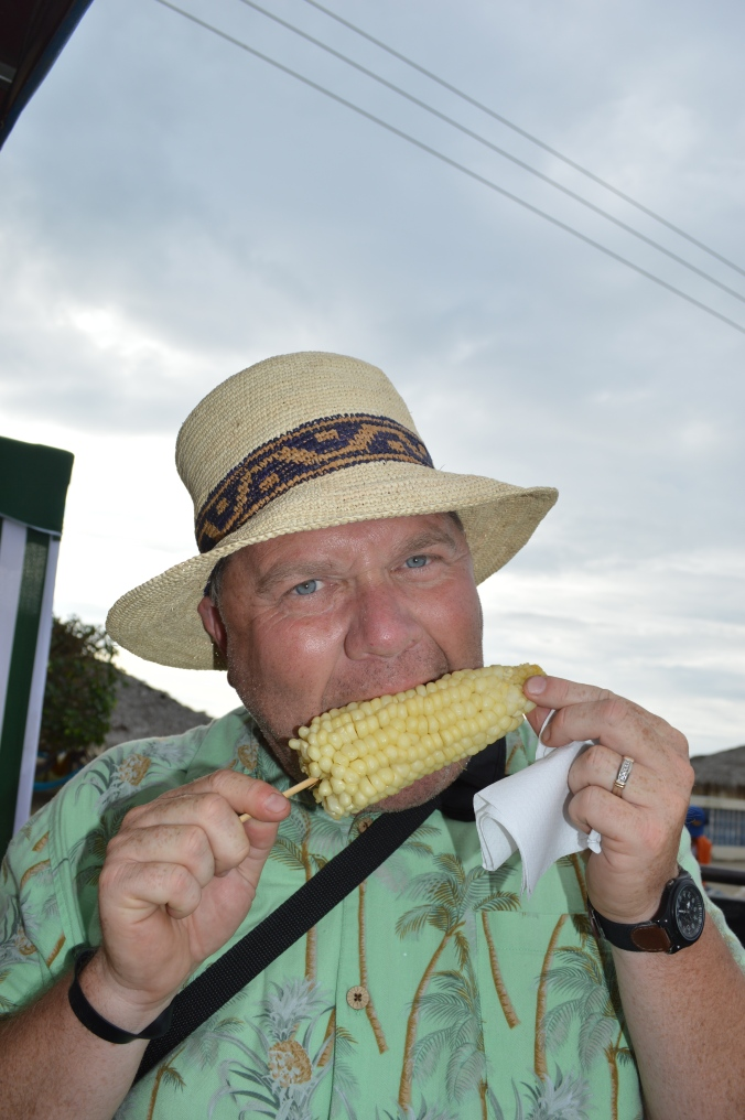 I'm pretty sure I got gringo-taxed on this ear of corn.