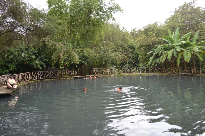 The swimming spring at Agua Blanca. It's sulfuric qualities are said to reinvigorate a youthful feel.