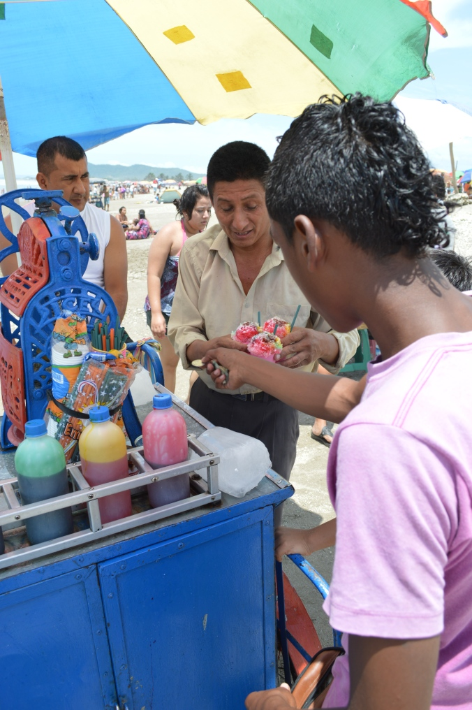 Snowcones for 50 centavos. It always makes me think of the Tropical Sno stand in our home town where we often pay $5.