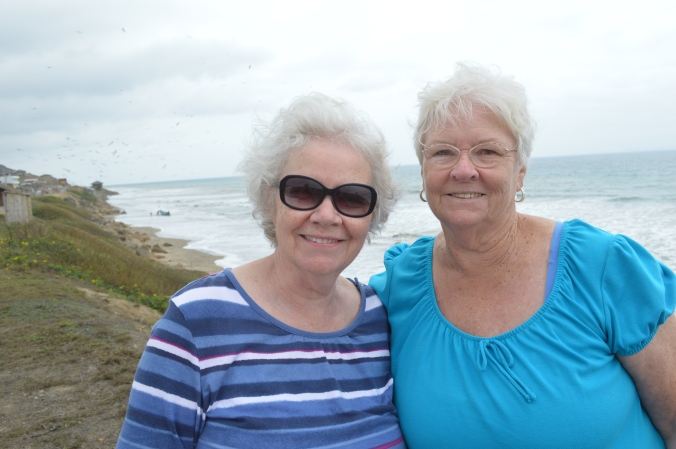 Mom and Aunt Neala near the beach in Las Pinas.