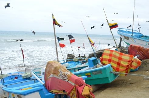 Fishing boats just in from sea in Las Pinas, where we stopped and bought some of the fresh catch pictured below.