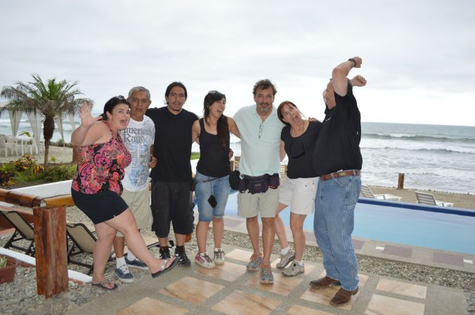 A final fun shot with our crew in Ecuador. That's a wrap!