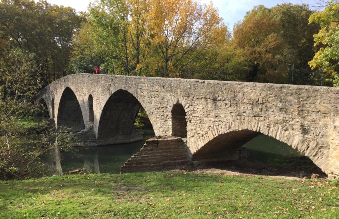 Bridge over the Arga River entering Pamplona