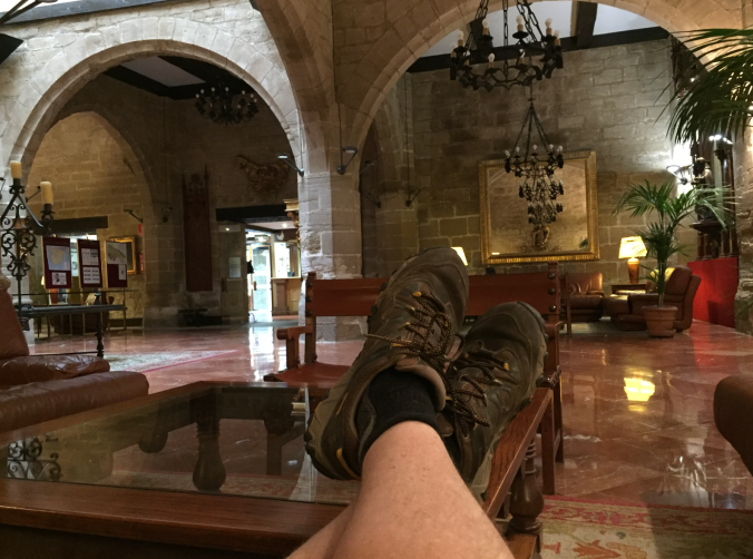 Livin' it up at The Parador in Santo Domingo. This is where I acquired my trail name, High Roller. More about that later.