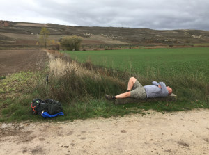Tired and not feeling well on the Meseta.
