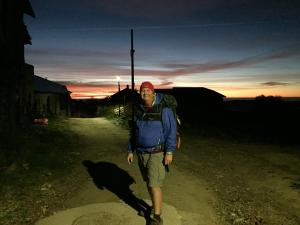 Leaving Foncebadón at daybreak.