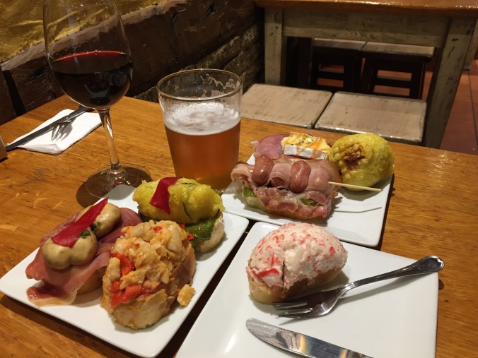 Tapas in Pamplona. Buen provecho!