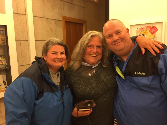 Our friend, Kathy McLeskey from Florida who followed me last year and went for her own Camino this year. We met for the first time in Santiago. She's a great pilgrim.